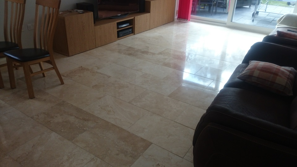 Travertine Floor Clean and Polish in Crawley, Surrey