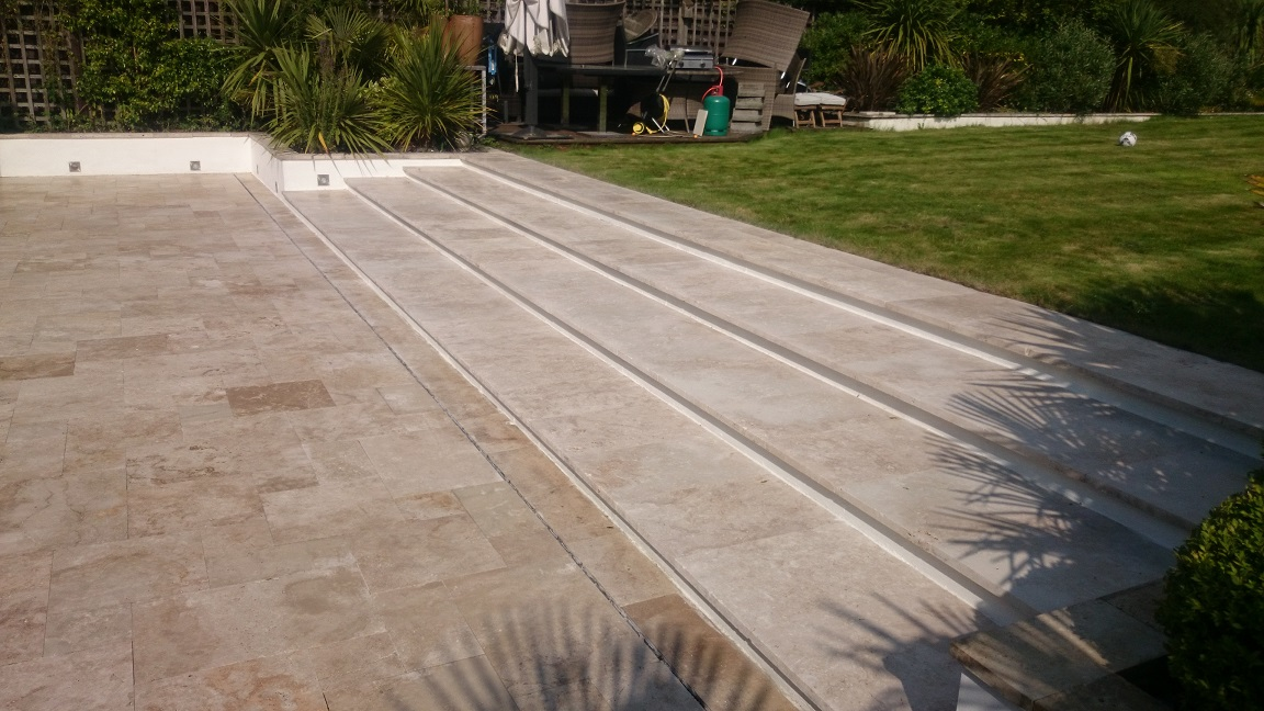 Outsdie Limestone Cleaning