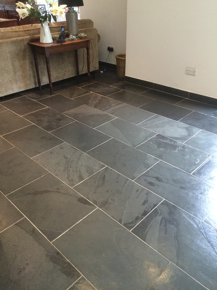 Slate After Cleaning & Sealing