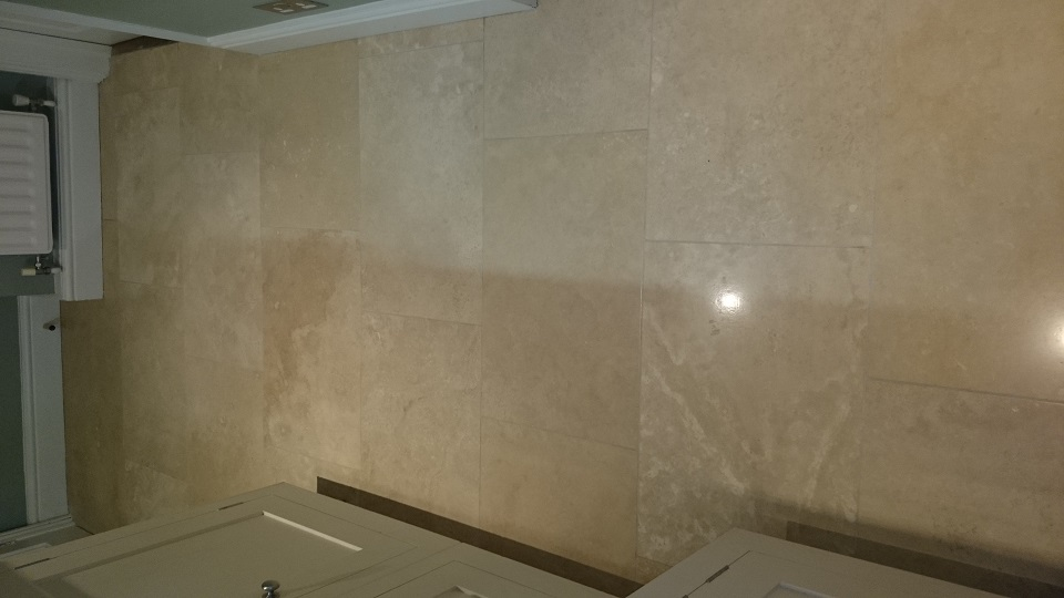 After on Travertine Cleaning And Polishing In Tonbridge, Kent