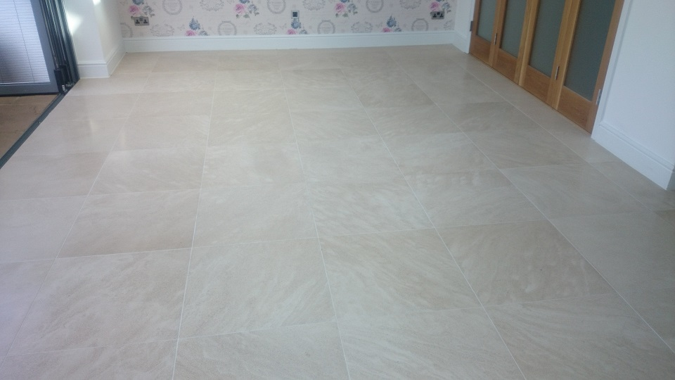 Limestone Floor After Restoration, Cleaning and Polishing