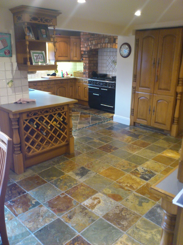 Slate Floor Tile Cleaning