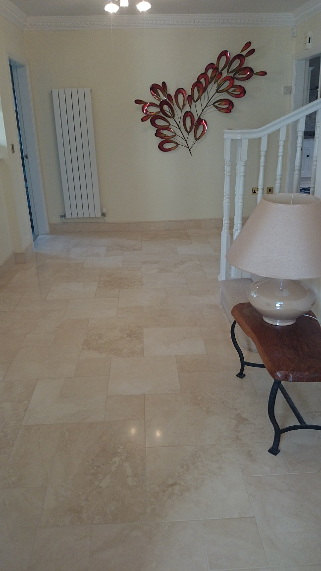 Travertine Floor Cleaning & Polishing