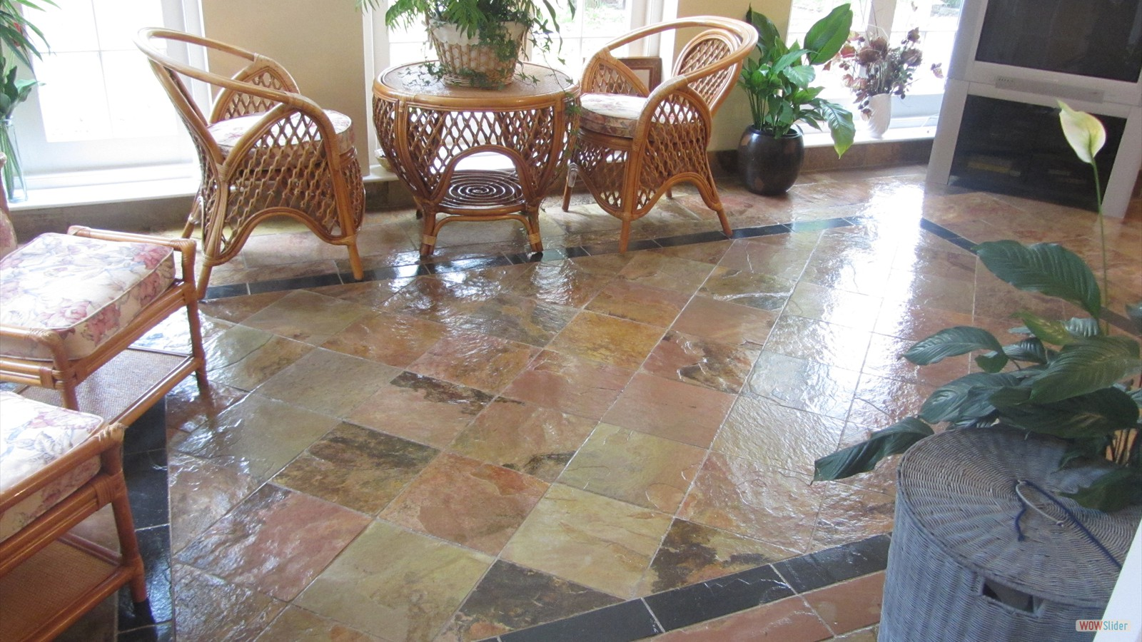 Slate Floor Cleaning & Sealing